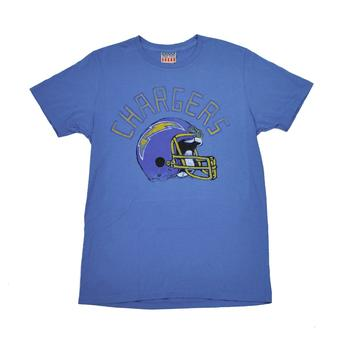 San Diego Chargers Junk Food Blue Kick Off Vintage Tee Shirt (Adult L)