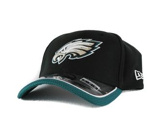 Philadelphia Eagles New Era Black Team Colors 39Thirty On Field Fitted Hat (Adult L/XL)
