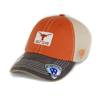 Texas Longhorns Top Of The World Offroad Orange Three Tone One Fit Flex Hat (Adult One Size)