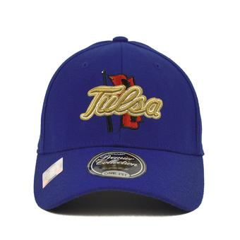 Tulsa Golden Hurricane Top Of The World Premium Collection Blue One Fit Flex Hat (Adult One Size)