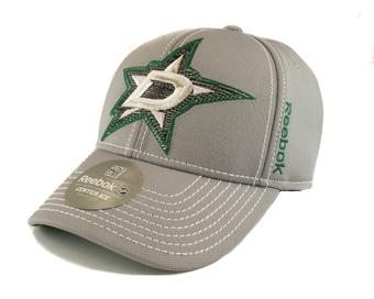 Dallas Stars Reebok Second Season Cap Grey Fitted Hat (Adult L/XL)