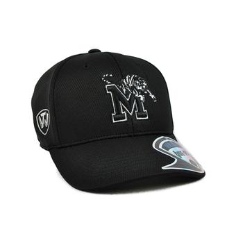 Memphis Tigers Top Of The World Ultrasonic Black One Fit Flex Hat (Adult One Size)