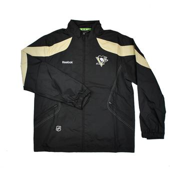 Pittsburgh Penguins Reebok Black Center Ice Performance Rink Jacket (Adult L)
