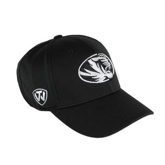 Missouri Tigers Top Of The World Ultrasonic Black One Fit Flex Hat (Adult One Size)
