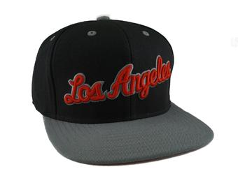 Los Angeles Clippers Adidas NBA Black & Grey Flat Brim Snapback Hat (Adult One Size)
