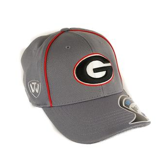 Georgia Bulldogs Top Of The World Linemen Charcoal Grey One Fit Flex Hat (Adult One Size)