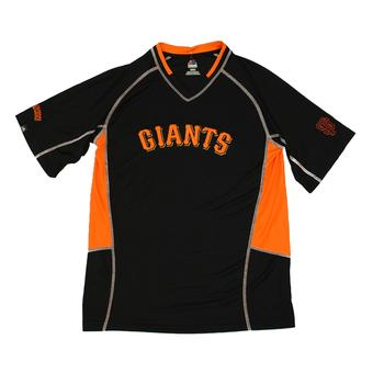 San Fancisco Giants Majestic Black Fast Action Performance Tee Shirt (Adult M)