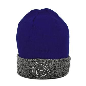 Boise State Broncos Top Of The World Blue & Gray Quasi Cuffed Knit Hat (Adult One Size)