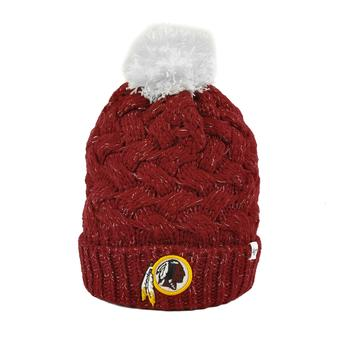 Washington Redskins '47 Brand Red Fiona Womens Cuff Knit w/Pom (Adult One Size)