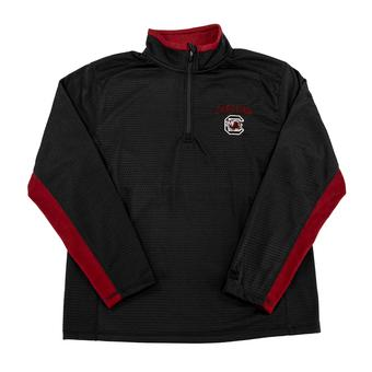 South Carolina Gamecocks Colosseum Black Training Day 1/4 Zip Pullover Performance Fleece