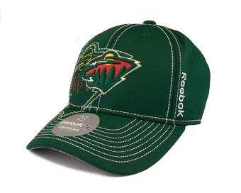 Minnesota Wild Reebok Green Draft Cap Fitted Hat (Adult S/M)