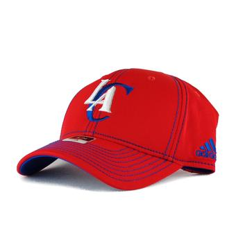 Los Angeles Clippers Adidas NBA Red Structured Flex Fitted Hat (Adult S/M)