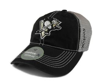 Pittsburgh Penguins Reebok Black/Grey Cotton Cap Fitted Hat (Adult S/M)