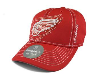 Detroit Red Wings Reebok Red Draft Cap Fitted Hat (Adult S/M)