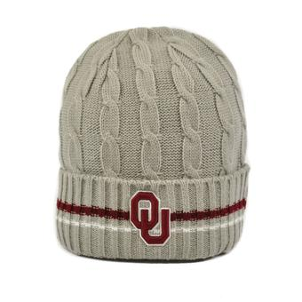 Oklahoma Sooners Top Of The World Gray Hydro Cuffed Knit Hat (Adult One Size)