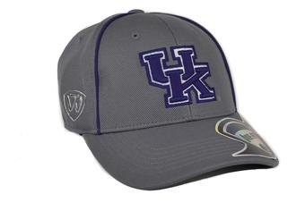 Kentucky Wildcats Top Of The World Linemen Charcoal Grey One Fit Flex Hat (Adult One Size)