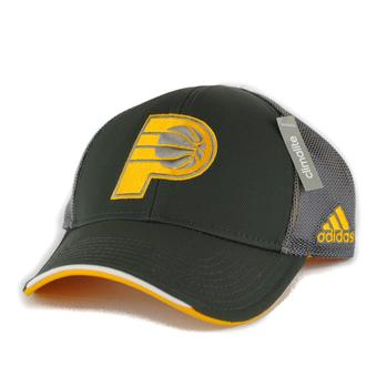 Indiana Pacers Adidas NBA Grey Climalite Pro Shape Flex Fit Hat (Adult L/XL)
