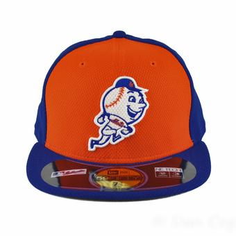 New York Mets New Era Diamond Era 59Fifty Fitted Blue & Orange Hat (7 3/4)