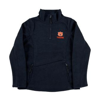 Auburn Tigers Colosseum Navy Glide 1/4 Zip Fleece (Womens L)