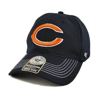 Chicago Bears '47 Brand Navy Game Time 47 Closer Stretch Fit Hat (Adult One Size)