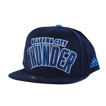 Oklahoma City Thunder Adidas NBA Authentic Draft Navy Snapback Hat (Adult One Size)