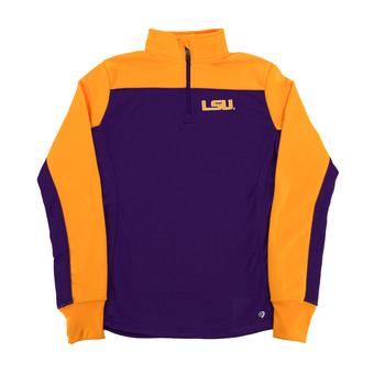 LSU Tigers Colosseum Yellow Joust 1/4 Zip Performance Fleece (Womens L)