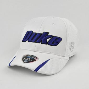 Duke Blue Devils Top Of The World Condor White One Fit Flex Hat (Adult One Size)