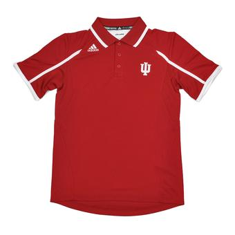 Indiana Hoosiers Adidas Red Climalite Performance Polo (Adult L)