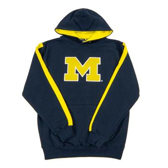 Michigan Wolverines Colosseum Navy Youth Rally Pullover Hoodie (Youth L)