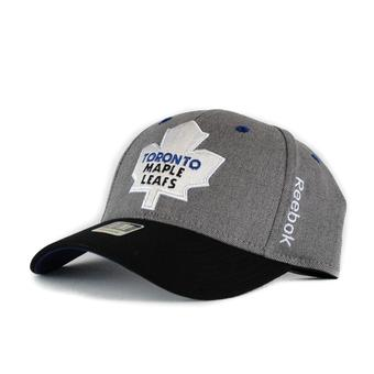 Toronto Maple Leafs Reebok Grey Structured Flex Fitted Hat (Adult L/XL)