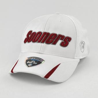 Oklahoma Sooners Top Of The World Condor White One Fit Flex Hat (Adult One Size)