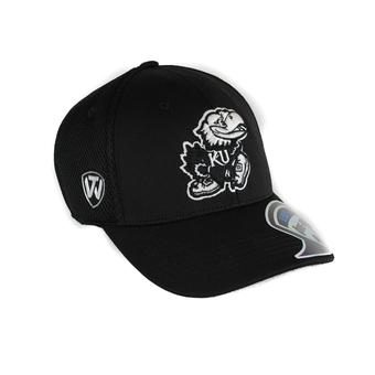 Kansas Jayhawks Top Of The World Resurge Black One Fit Flex Hat (Adult One Size)
