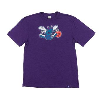 Charlotte Hornets Majestic Purple Hours and Hours Dual Blend Tee Shirt (Adult XL)