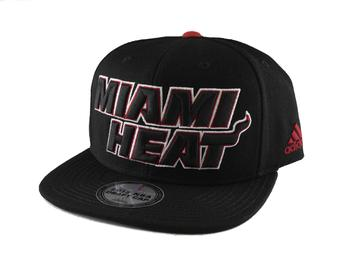 Miami Heat Adidas NBA Authentic Draft Black Snapback Hat (Adult One Size)