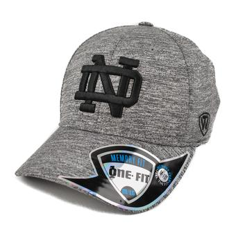 Notre Dame Fighting Irish Top Of The World Steam Heather Gray One Fit Flex Hat (Adult One Size)