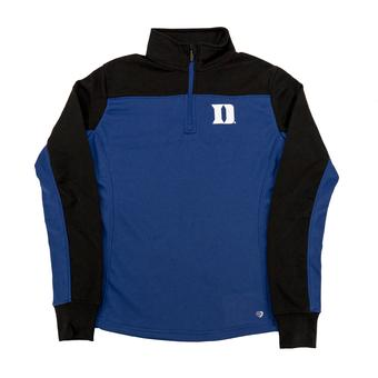 Duke Blue Devils Colosseum Blue Joust 1/4 Zip Performance Fleece (Womens XL)