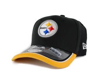 Pittsburgh Steelers New Era Black Team Colors 39Thirty On Field Fitted Hat (Adult L/XL)