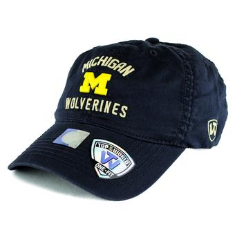 Michigan Wolverines Top Of The World Degree Navy One Fit Flex Hat (Adult One Size)