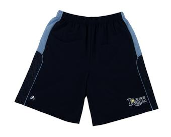 Tampa Bay Rays Majestic Navy Batters Choice Shorts (Adult L)