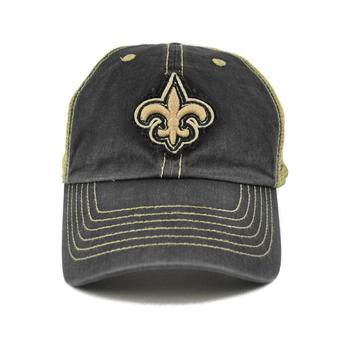 New Orleans Saints '47 Brand Montana 47 Clean Up Mesh Snapback Hat (Adult One Size)