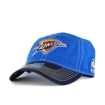 Oklahoma City Thunder Adidas NBA Blue Slouch Flex Fitted Hat (Adult L/XL)