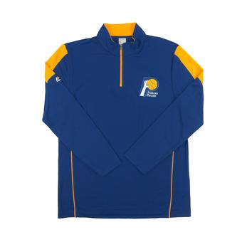 Indiana Pacers Majestic Royal Blue Status Inquiry Performance 1/4 Zip Long Sleeve (Adult S)