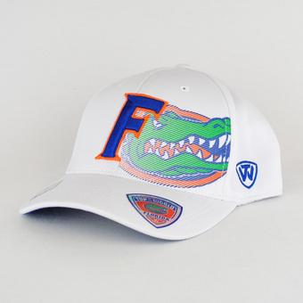 Florida Gators Top Of The World Hi Rize White One Fit Flex Hat (Adult One Size)