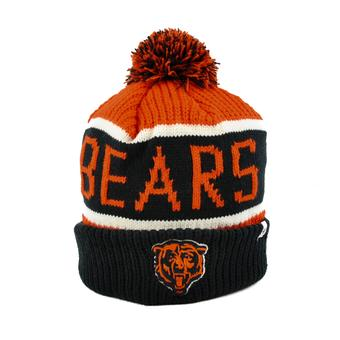 Chicago Bears '47 Brand Orange Calgary Cuff Knit w/Pom (Adult One Size)