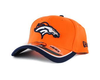 Denver Broncos New Era Orange Team Colors 39Thirty On Field Fitted Hat (Adult L/XL)