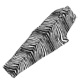 Oakland Raiders Zubaz Black and White Zebra Print Pants (Adult M)