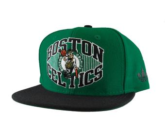 Boston Celtics Adidas NBA Green Flat Brim Snapback Hat (Adult One Size)