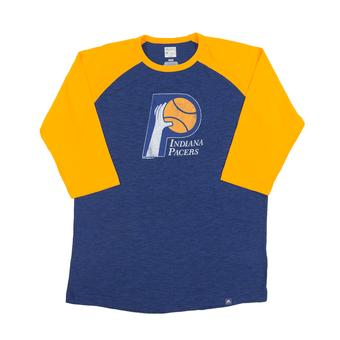 Indiana Pacers Majestic Blue Don't Judge 3/4 Sleeve Dual Blend Tee Shirt (Adult S)