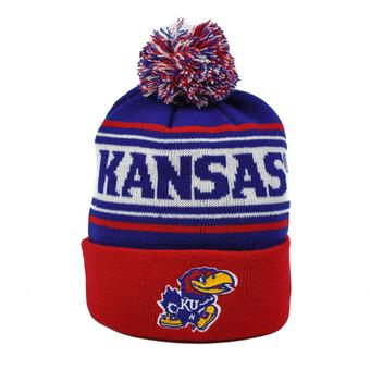 Kansas Jayhawks Top Of The World Youth Team Color Ambient Cuffed Knit Hat (Youth One Size)