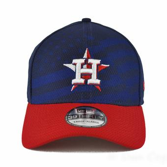 Houston Astros New Era Navy 39Thirty Stars & Stripes Flex Fit Hat (Adult L/XL)